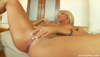 Skinny Blonde Drills Her Tight Hole